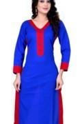amazing-plain-formal-wear-beautiful-cottan-blue-kurti