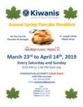 2019 Spring Pancakes Poster - Revised