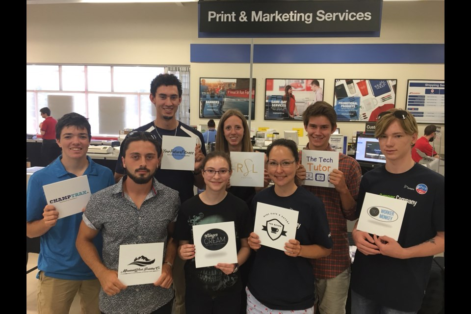 These eight students were the successful applicants for this year's Summer Company program, which is run by the Small Business Enterprise Centre and supported by Staples. Erika Engel/CollingwoodToday