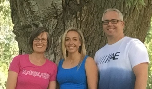 From left, Nancy Newman, Aaryn Coutts and James Carson prior to their cross-Canada cycling trek in support of youth mental health. Contributed image