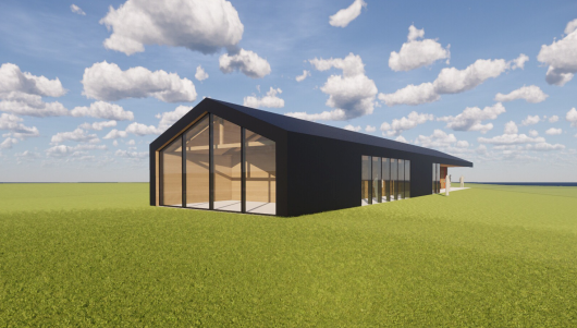 This is the concept art for a proposed clubhouse at Fisher Field to be used by members of the public and the user groups who rent the fields. Contributed image