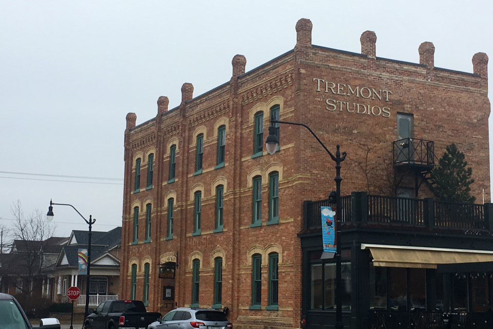 The Tremont building was restored by Rick Lex. He replaced all the windows with thermal pane, wood-frame windows and had the paint removed and clay brick restored. Erika Engel/ Collingwood Today