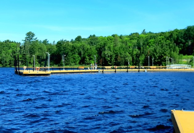 2019-07-20 Elliot Lake fishing pier BS 1
