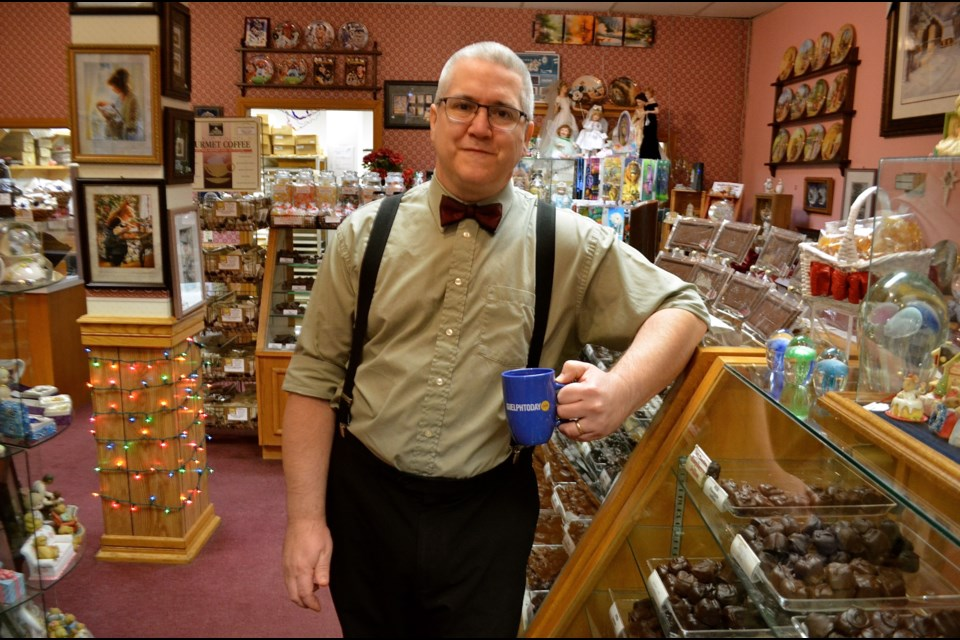 Bruce Merritt, owner of Candies of Merritt, is carrying on a century-old family tradition of making candy. Troy Bridgeman for GuelphToday.com