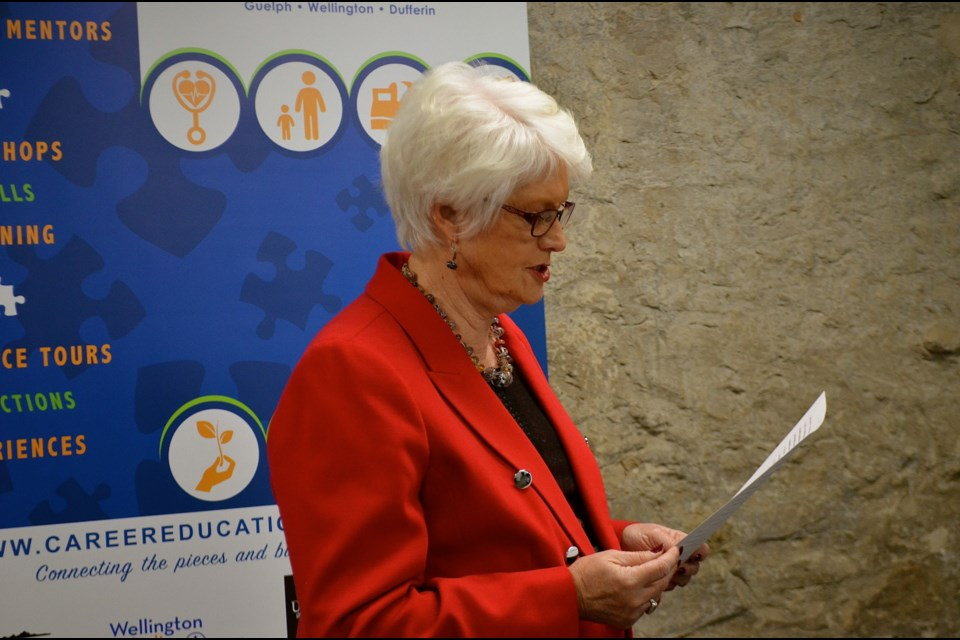 Guelph MPP Liz Sandals announces government funding for new workplace health and safety training program. Troy Bridgeman for GuelphToday.com