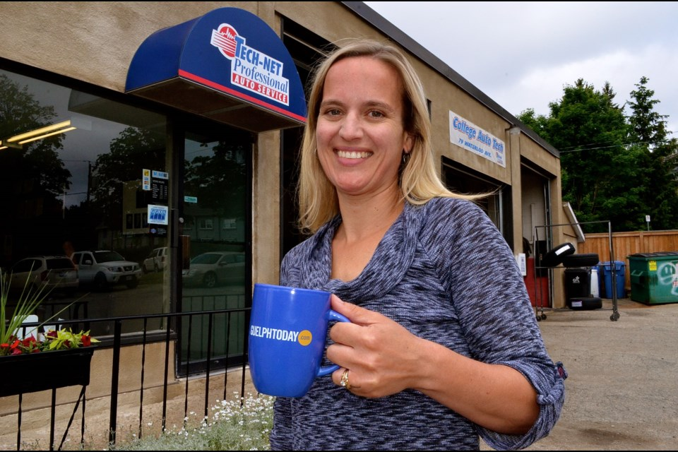 Jaime Hamilton is the new owner of College Auto Tech on Waterloo Avenue and the third generation in her family to go into the automotive repair business. Troy Bridgeman for GuelphToday