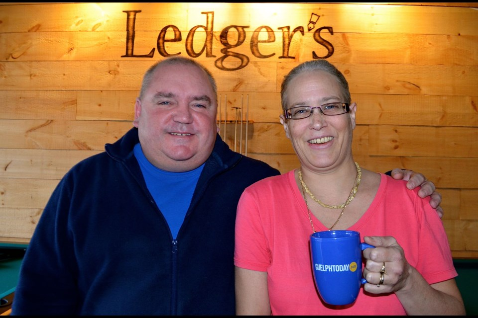 Glenn Millar and Karen Fazzari owners of Ledger's Tap & Grill on Scottsdale Drive.