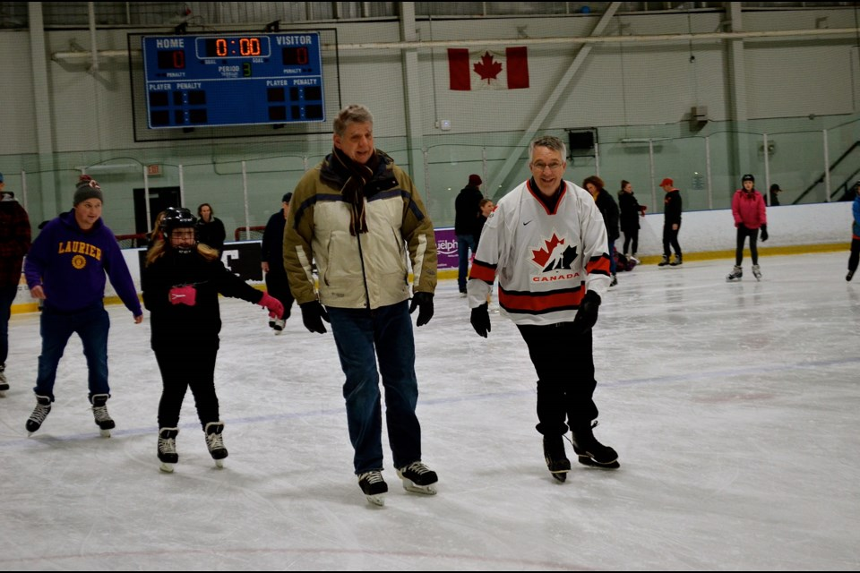 e57c44901bc Guelph MP Lloyd Longfield skates with constituents during the New Years  Levee at the West End