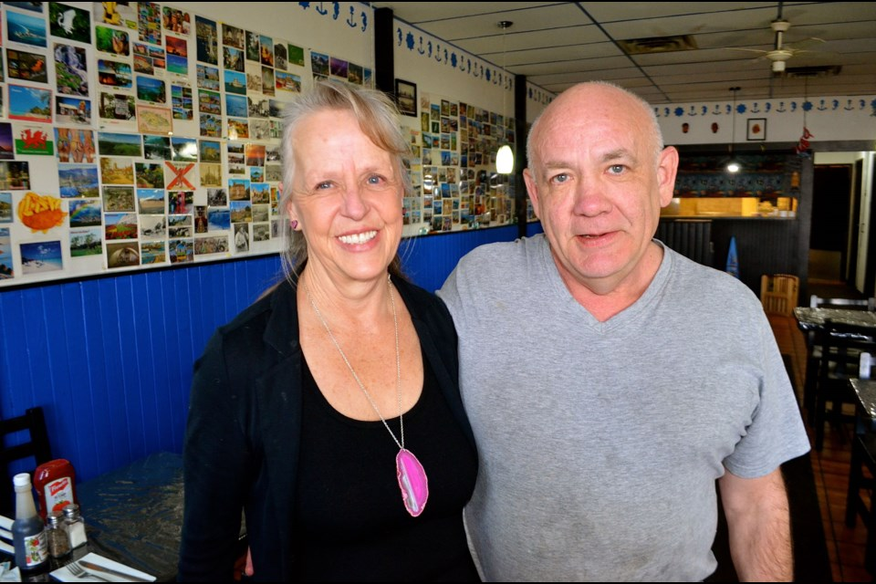 Sandy and Charlie Griese inside their restaurant Captain Jacks's on Woodlawn Road.  Troy Bridgeman for GuelphToday