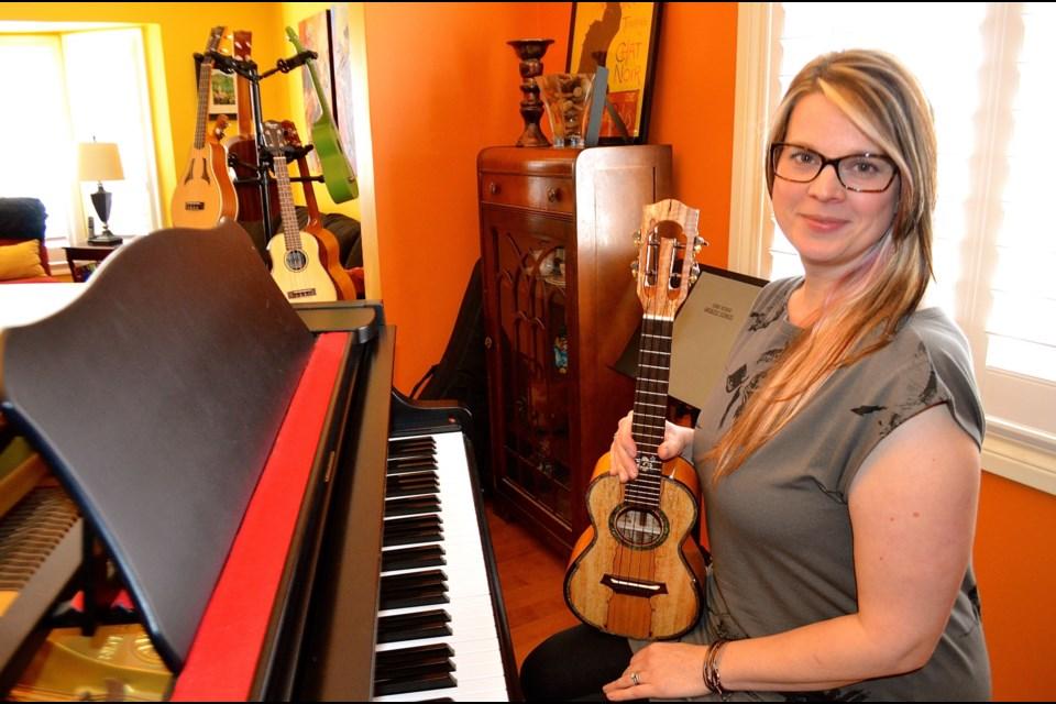 Musician, ukulele festival promoter and teacher Cynthia Kinnunen. Troy Bridgeman for GuelphToday