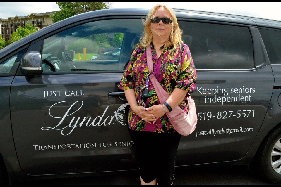 Lynda Flisak is encouraging seniors to Just Call Lynda when they need a lift. Troy Bridgeman for GuelphToday.com