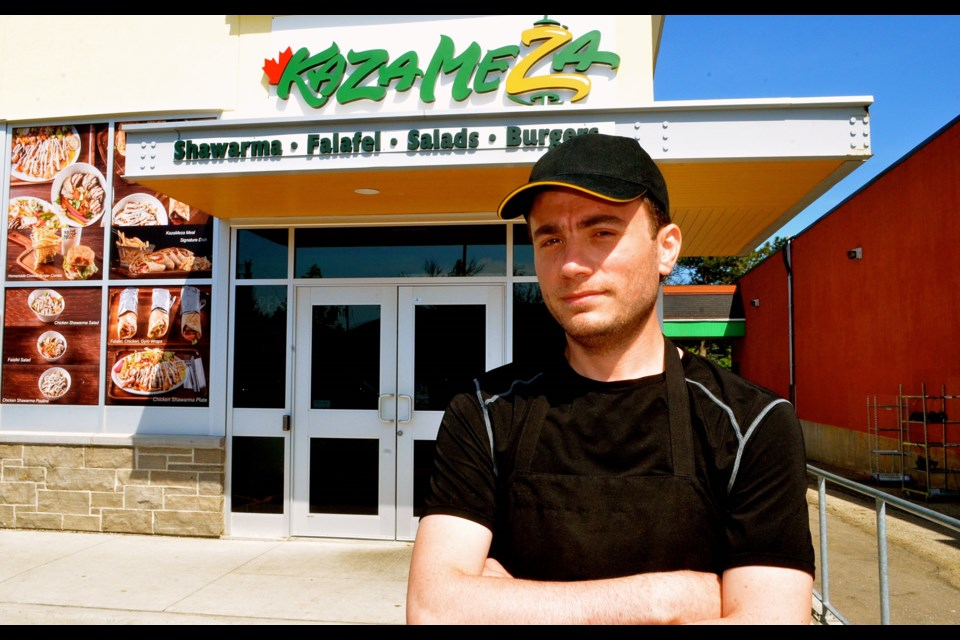 Syrian born Mohamed Malek is building a future in Guelph with restaurant Kaza Meza in the Bullfrog Mall.  Troy Bridgeman for GuelphToday.com