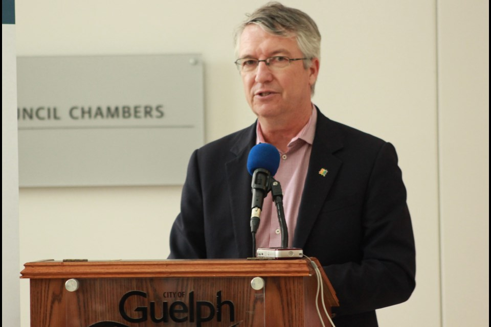 MP Lloyd Longfield announces the $175,000 fund at City Hall on May 22. Anam Khan/GuelphToday