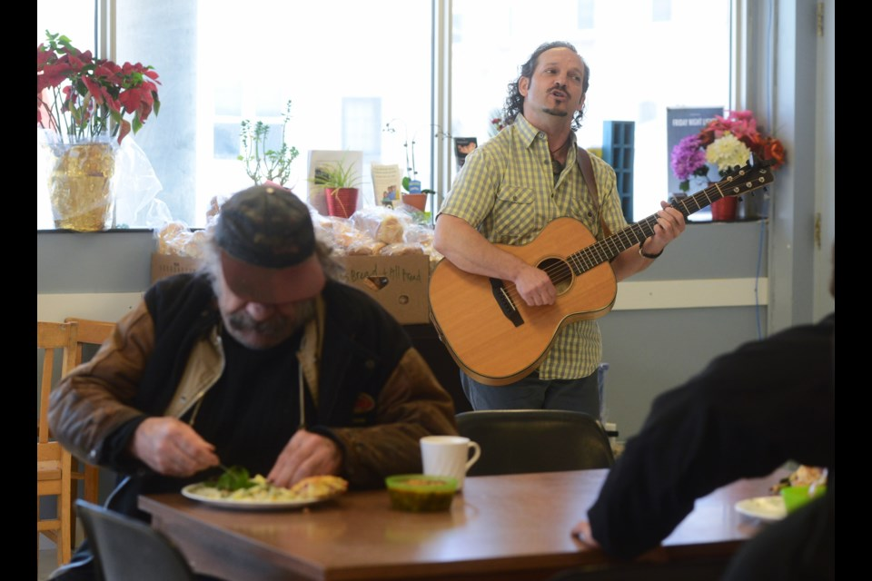 Don Sawchuk performs at the Welcome In Drop-In Centre Saturday, May 5, 2018. Tony Saxon/GuelphToday