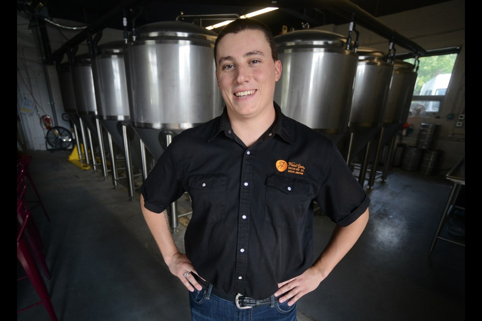 Head brewer Mike Mayo of Guelph's newest micro brewery, Fixed Gear Brewing Co. Tony Saxon/GuelphToday