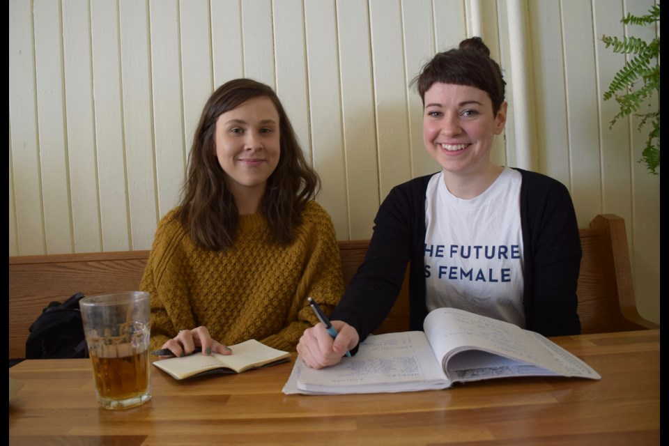 Guelph Night Market founders/organizers Emily Colley-Divjak and Theresa Mullins are planning their next event, set for April 7. Rob O'Flanagan/GuelphToday