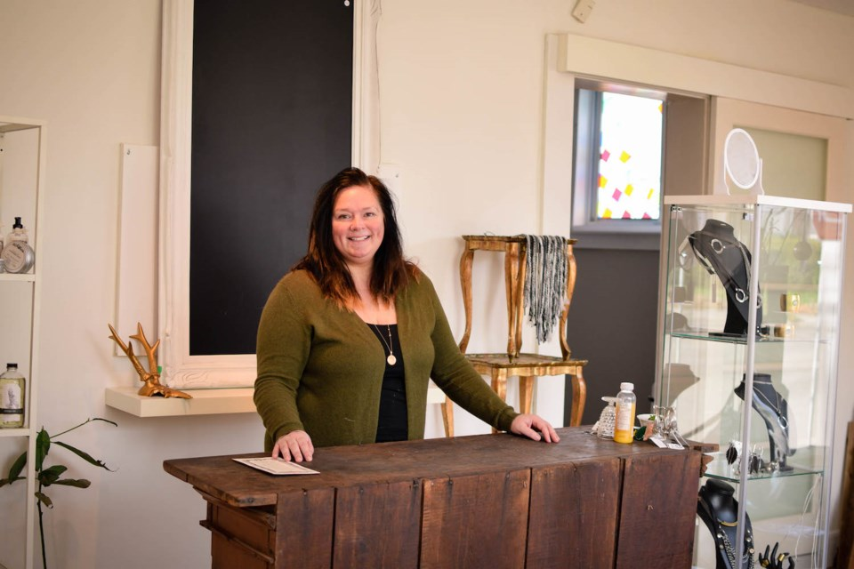 Sandra Stephenson, owner of the Guilded Cage Boutique Market at 404 York Rd.