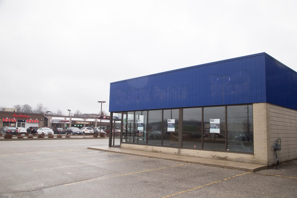 The former Dulux Paint store at 314 Stone Road West may be the location for Guelph's cannabis retailer. Kenneth Armstrong/GuelphToday