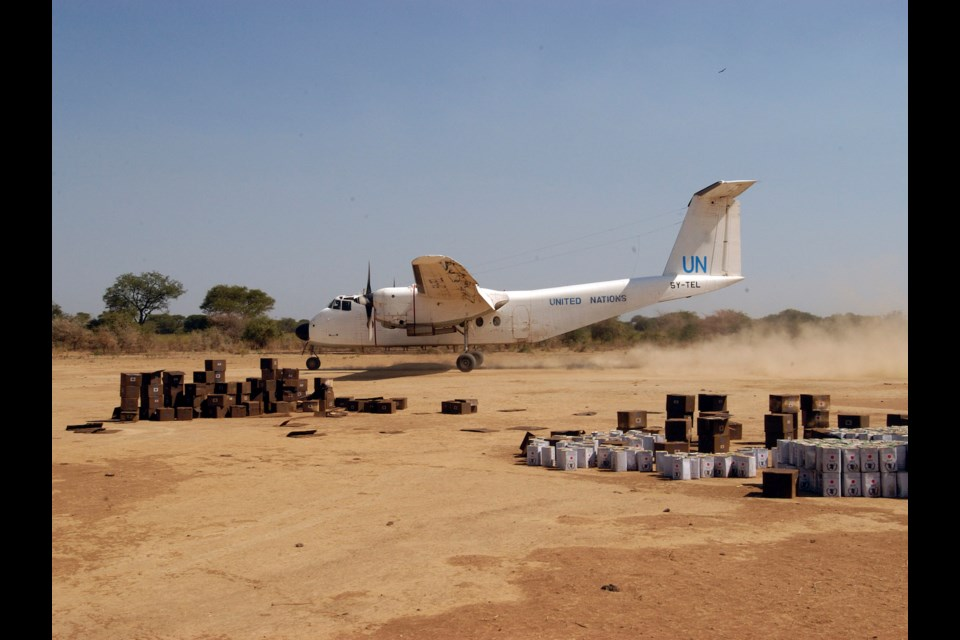 Supply drop off, Sudan. Photo courtesy of Philip Maher