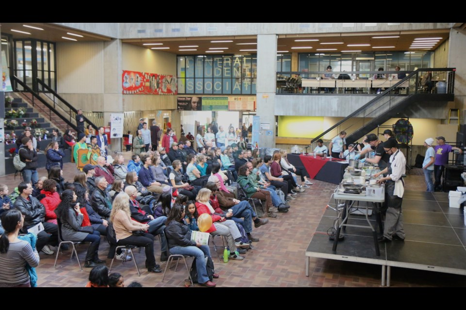Great crowd for the College Royal WastED event. Photo courtesy of Vijay Nair