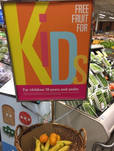 grocery store - fruit for kids