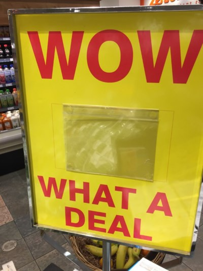 Grocery store - Wow what a deal