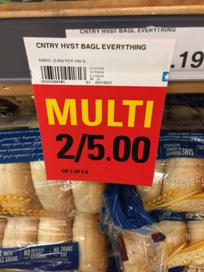 grocery story - multi sign