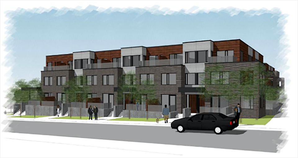 Artists rendition of the planned development for 89 Beechwood Ave.