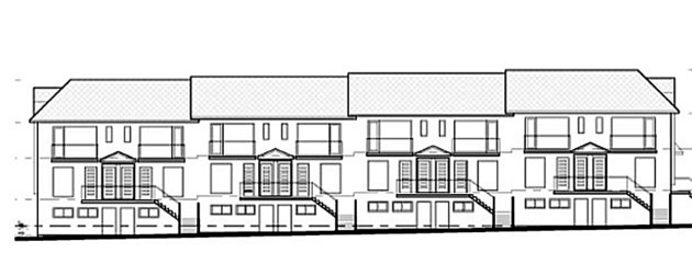 New townhouse development proposed for gordon street for Stacked townhouse floor plans