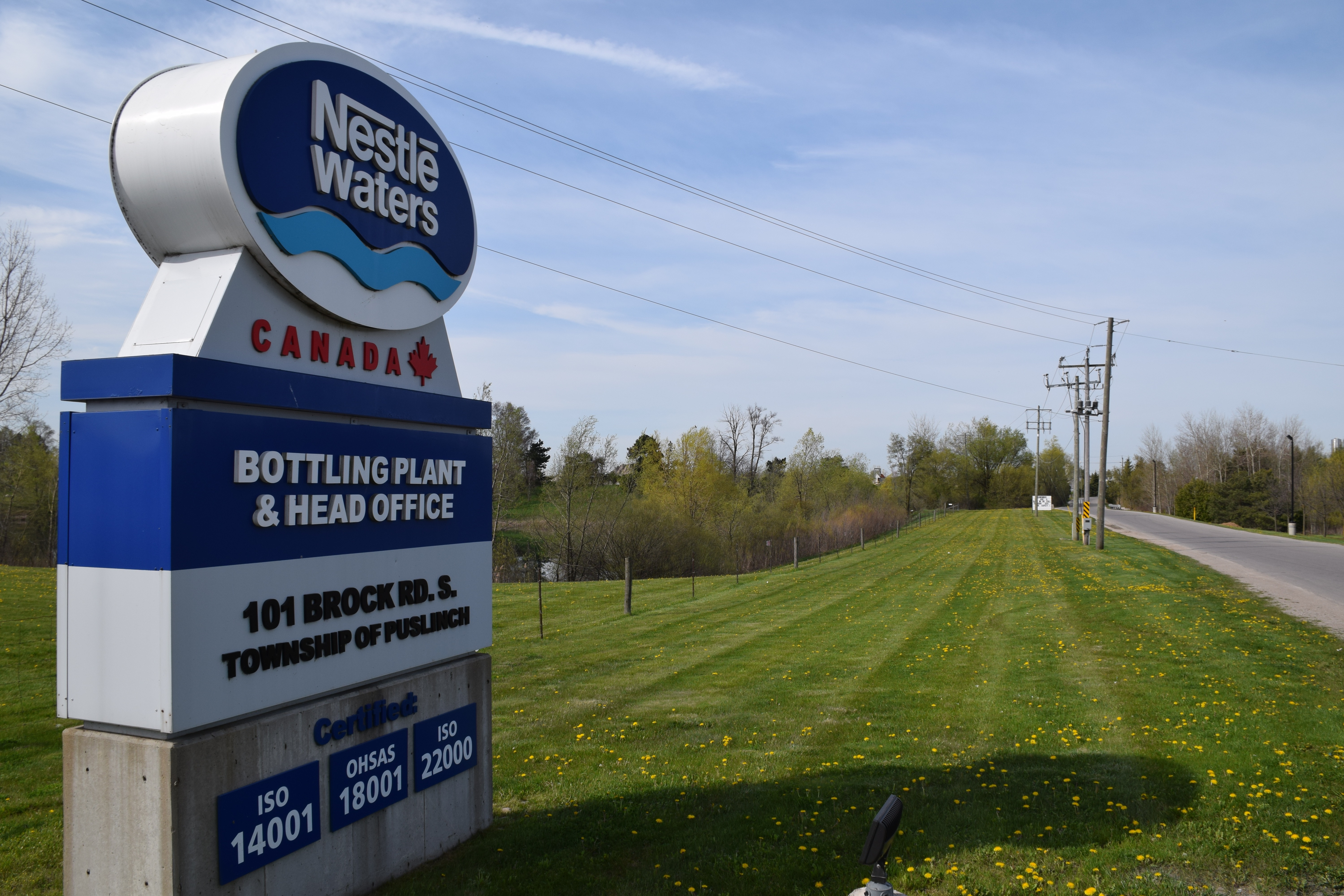 Nestlé Water Canada offers olive branch to Township of