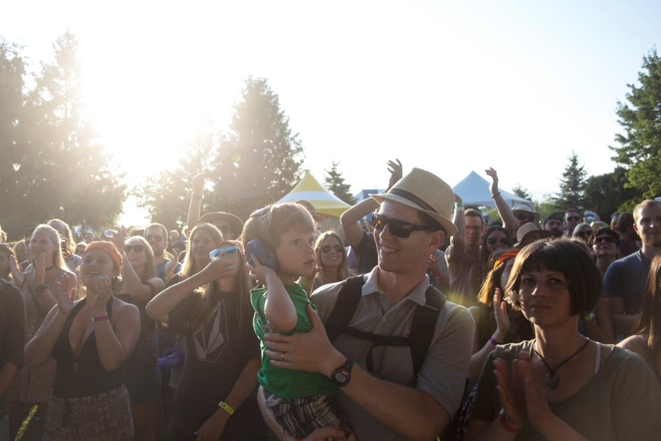 Audience members seen during a performance at Hillside Festival Friday at Guelph Lake Conservation Area. Kenneth Armstrong/GuelphToday