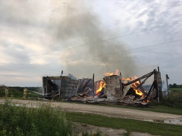 Fires Burn Barns In Wellington County