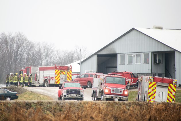 20181221 Fire at First Line Training Centre KA