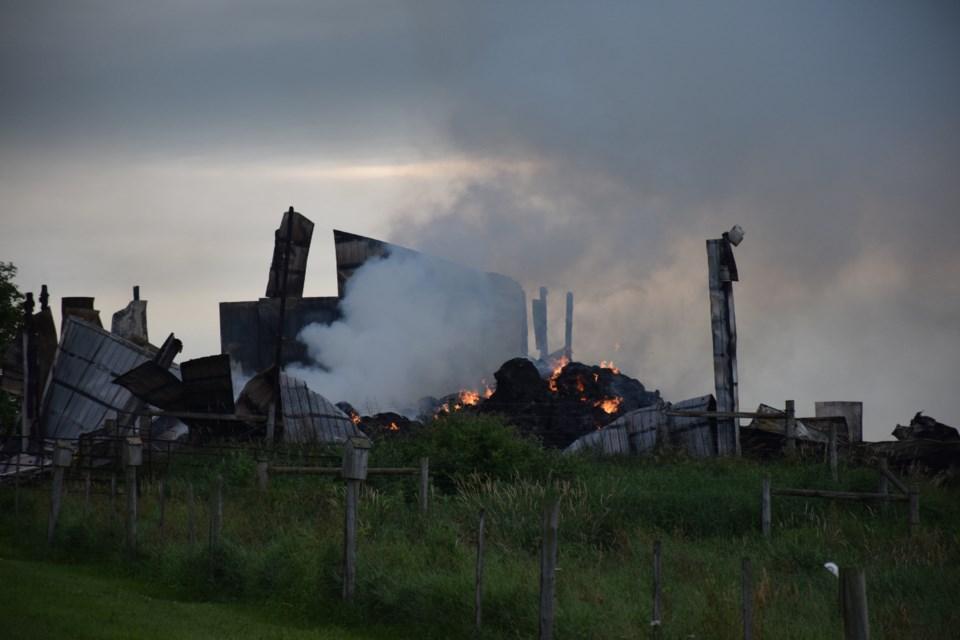 July 20 fire at 8813 Sideroad 27, near Erin. Rob O'Flanagan/GuelphToday