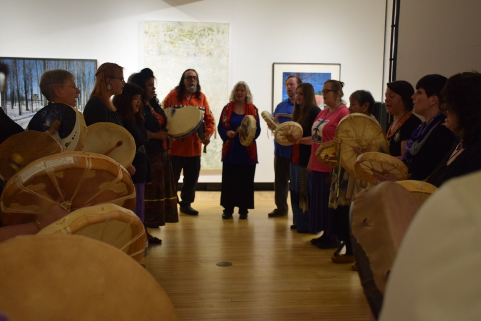Good Hearted Women perform at a pre-launch screening of The Journey, a documentary film about Indigenous nurses. Rob O'Flanagan/GuelphToday