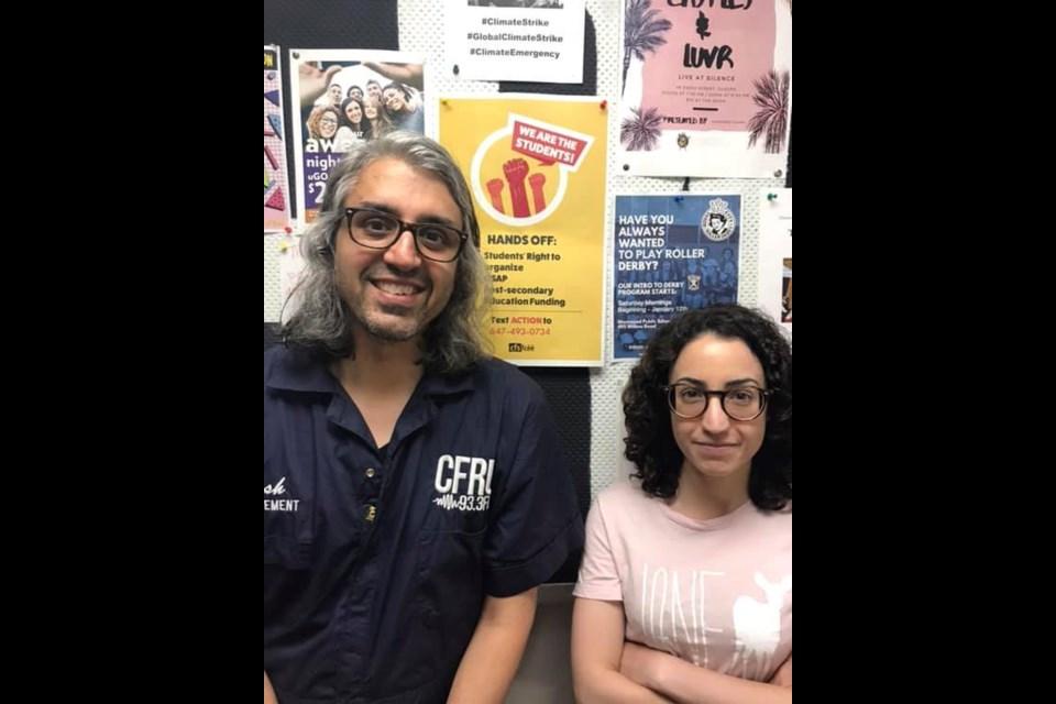 Vish and Andrea at the CFRU headquarters.