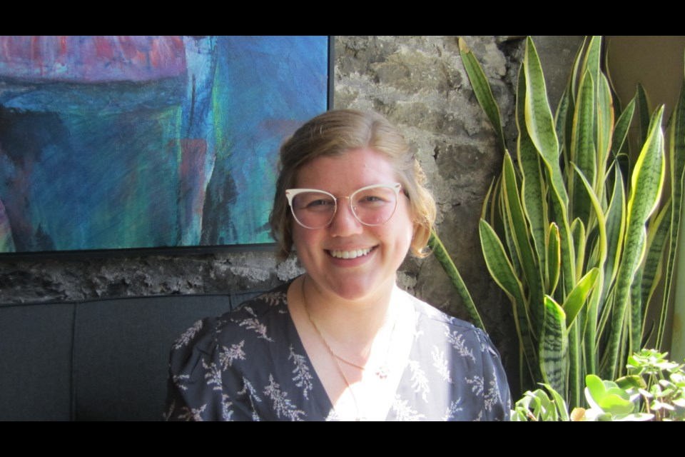 Kesia Kvill, Guelph Arts Council Historical Walking Tour Guide and PhD candidate in Canadian history Photo credit GAC staff
