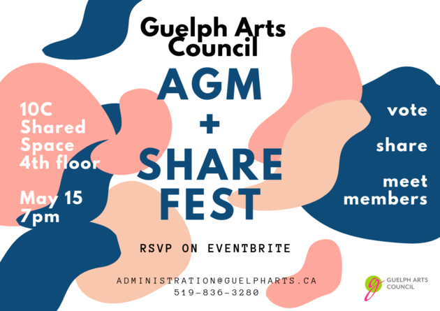 4. Guelph Arts Council Annual General Meeting and Sharefest.