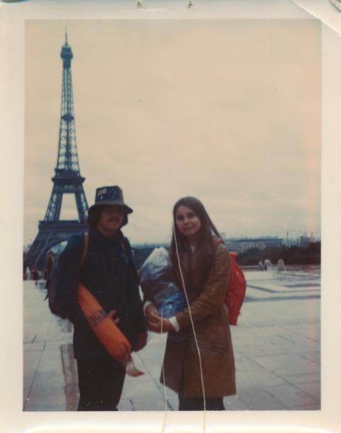 Bob with Cindy in Paris