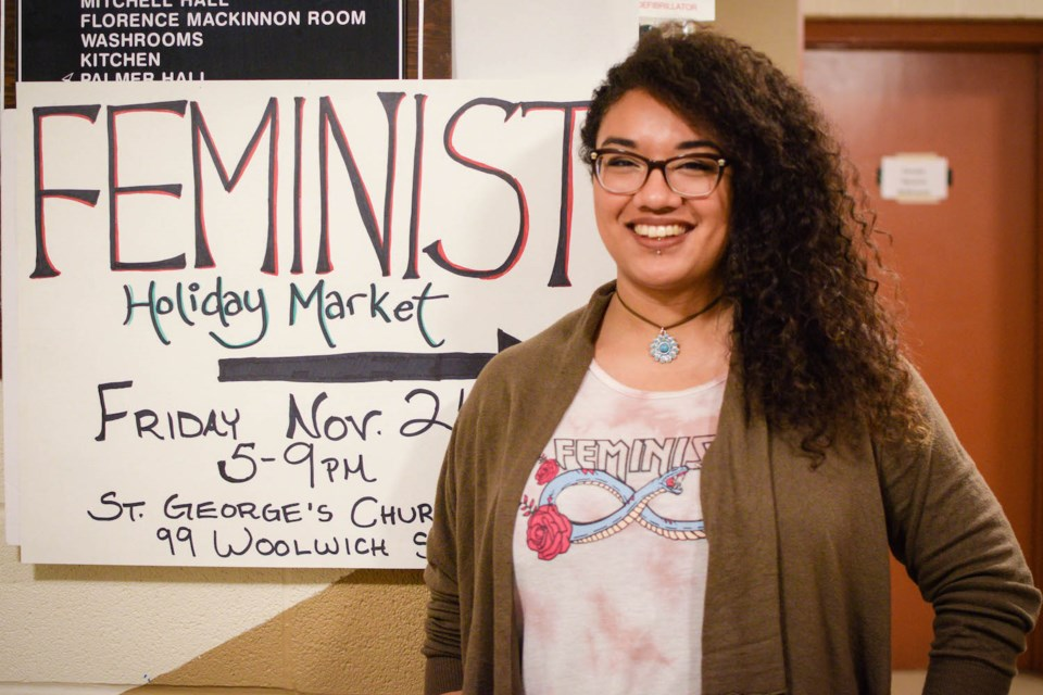 Siyobin Blanco, organizer of the Feminist Holiday Market, and owner of The Wool Witch. Brianna Bell for GuelphToday
