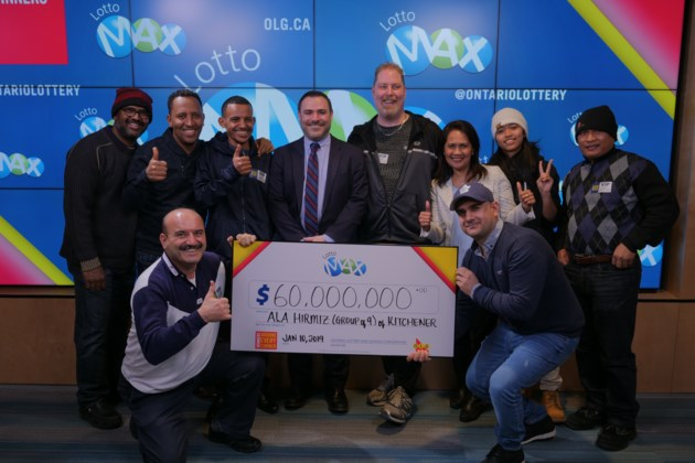LOTTO MAX - December 21 2018 - $60,000,000 - Hiriz (grp of 9) of Guelph