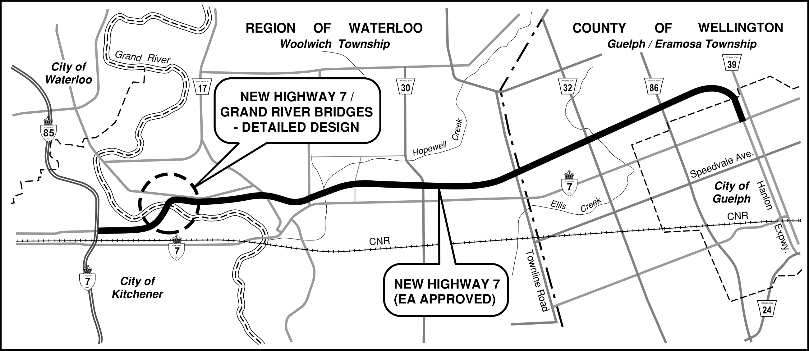 Completion date for new Highway 7 now \'beyond 2021\' - GuelphToday.com