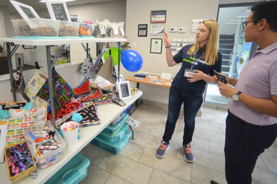 Elizabeth Zinger and her Wiggle Giggle Pet Supplies. Tony Saxon/GuelphToday