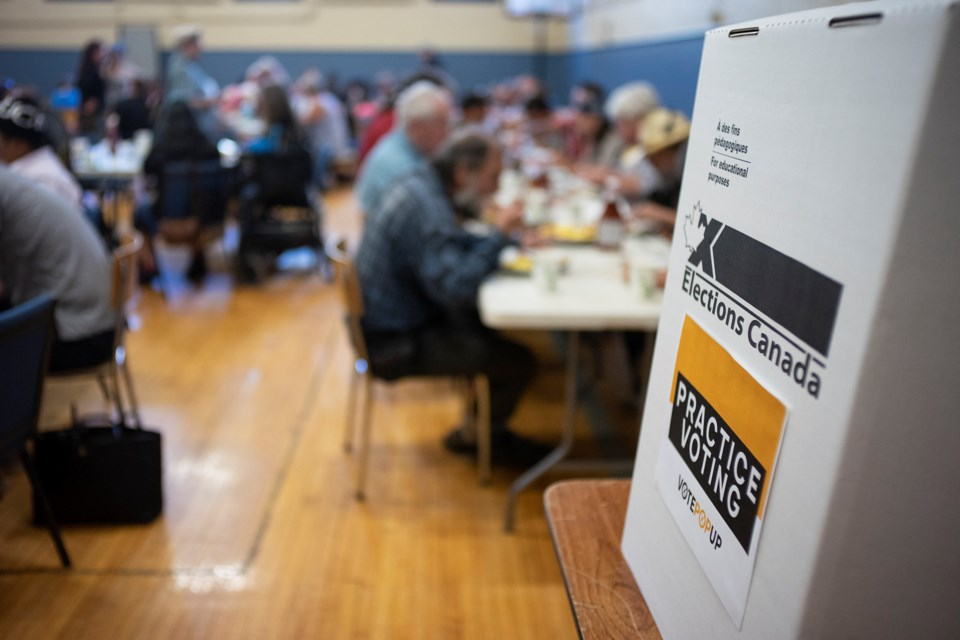 On Wednesday, about 150 attended an all-candidates breakfast event at HOPE House. Aside from speaking to candidates directly, members of the community were also given instructions on how to go about voting in the upcoming federal election. Kenneth Armstrong/GuelphToday