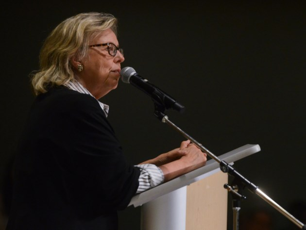 Green Party leader May talks climate action at Guelph rally