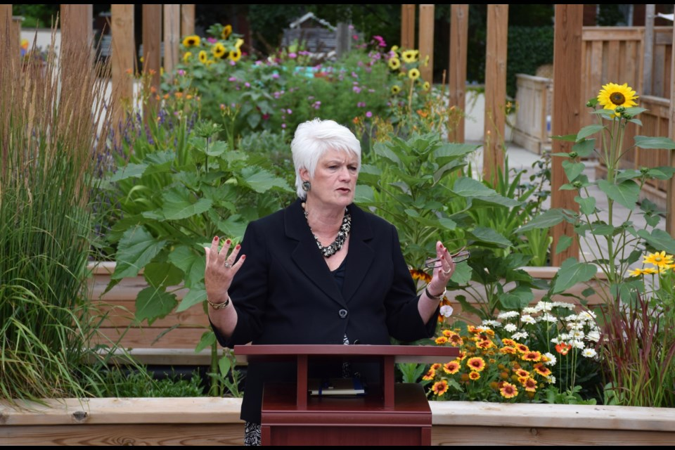 Guelph MPP Liz Sandals announced over $45,000 in green tech improvements to Royal City Housing Co-operative. Rob O'Flanagan/Guelph