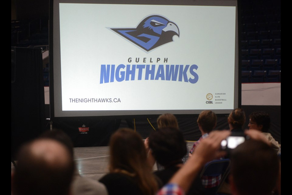 The Guelph Nighthawks name, logo and colours are revealed at the Sleeman Centre Wednesday, June 13, 2018. Tony Saxon/GuelphToday