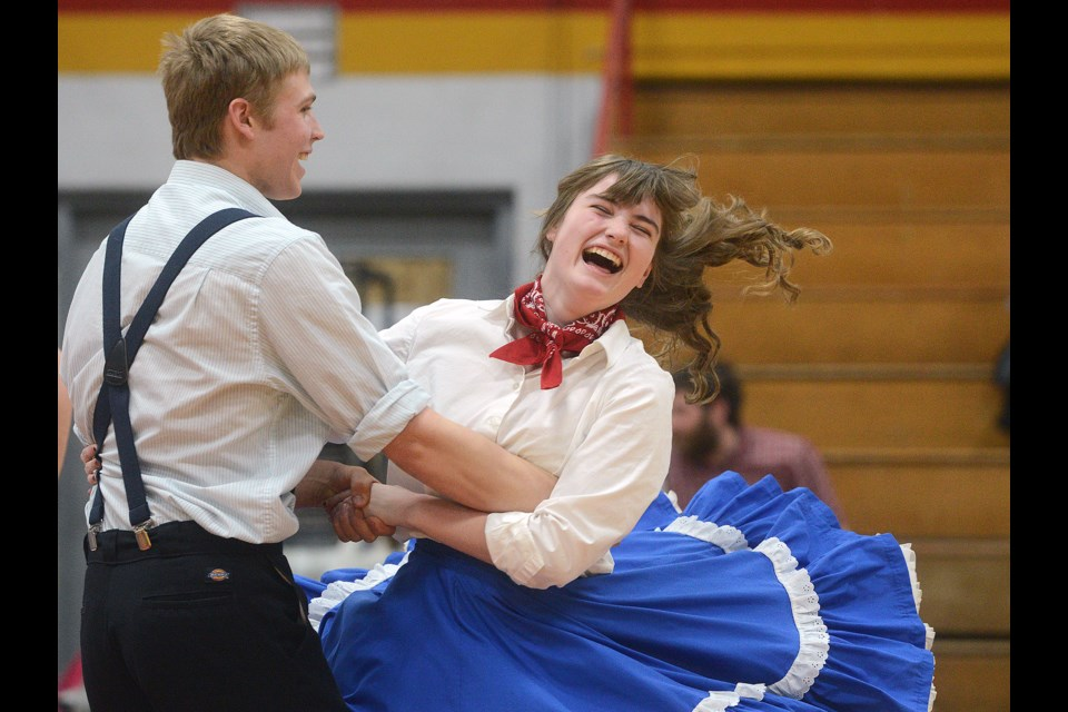 Getting into the swing of things at the square dancing competition at College Royal 2017 on Saturday, March 18, 2017. Tony Saxon/GuelphToday