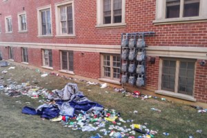 Mayor criticizes Homecoming revellers whose left a mess behind Saturday