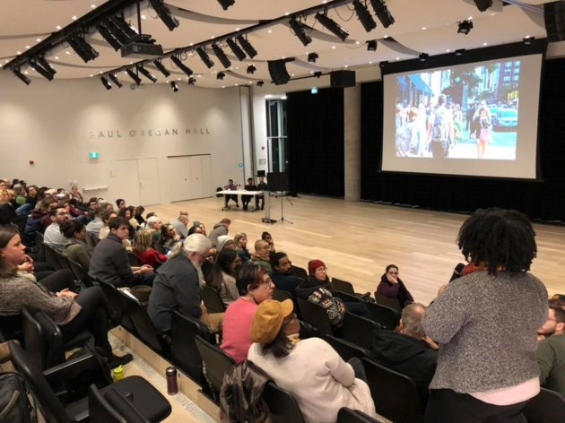 A discussion is held during The Radical Imagination Project at the Halifax Central Library in 2018. (Submitted by Alex Khasnabish)
